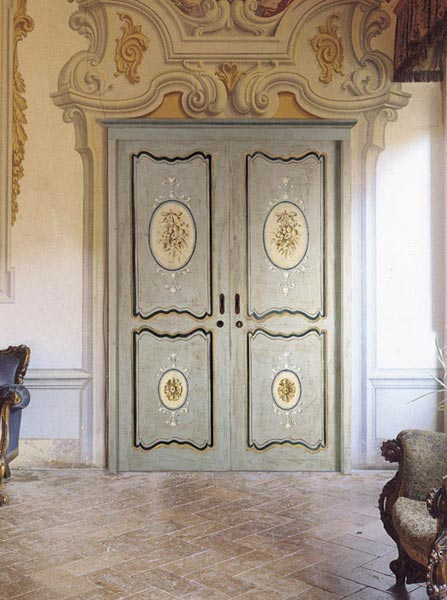 Veneziano   Sliding Hand Decorated Door In Polychrome Solid Wood (Veneziano  Color And Decoration)