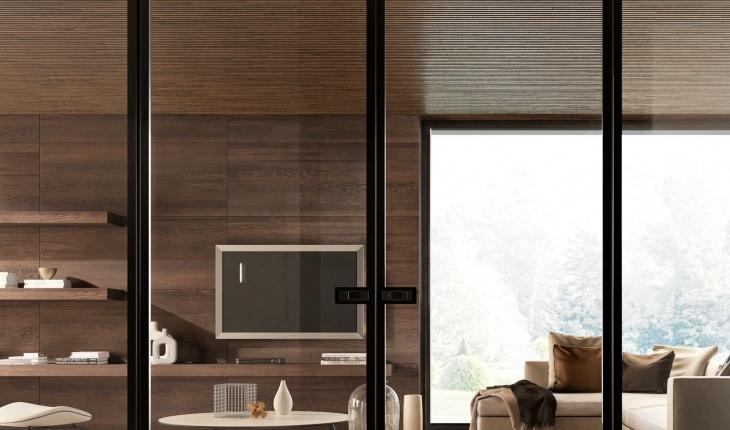 Porta A Due Ante Con Vetro.Interior Solutions